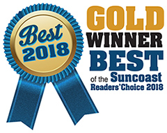 Gold Winner Best of the Suncoast Readers Choice 2018 Award